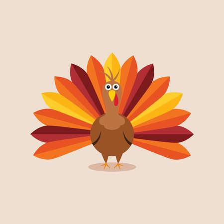 Ilustración de vector turkey card for thanksgiving day - Imagen libre de derechos