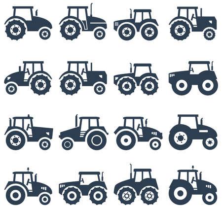 Illustration pour vector icons of a tractor - image libre de droit