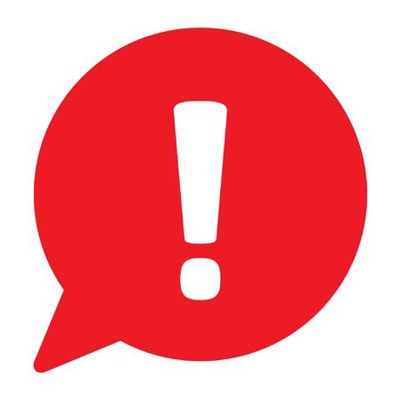 Ilustración de Danger sign, warning sign, attention sign in a speech bubble, vector illustration - Imagen libre de derechos