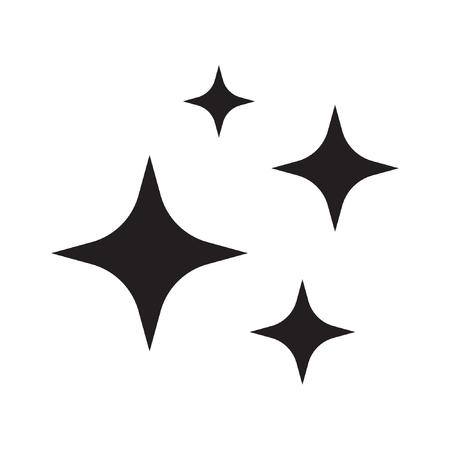 Ilustración de Shine icon, Clean star icon - Imagen libre de derechos
