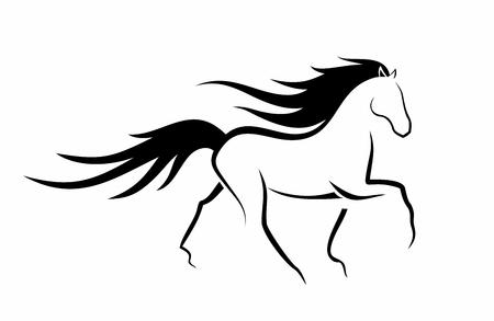 Illustrazione per elegant dancing horse - Immagini Royalty Free
