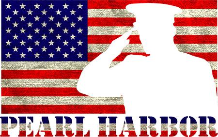 Illustration pour Pearl Harbor. Remembrance day. Vector illustration. Patriotic background - image libre de droit
