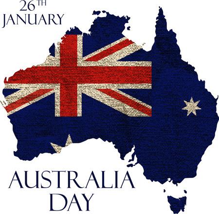 Illustration for Australia day poster. Australia Day Background. National Celebration Card. - Royalty Free Image