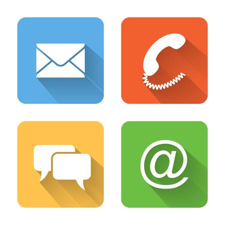 Illustration pour Flat contacts icons.  - image libre de droit