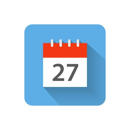 Illustration pour Flat calendar icon illustration - image libre de droit