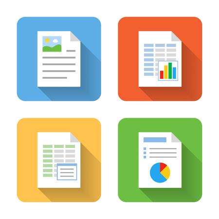 Illustration pour Flat document icons. Vector illustration - image libre de droit
