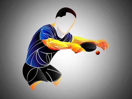 Ilustración de table tennis, ping pong, table tennis, Player, athlete, game, vector - Imagen libre de derechos