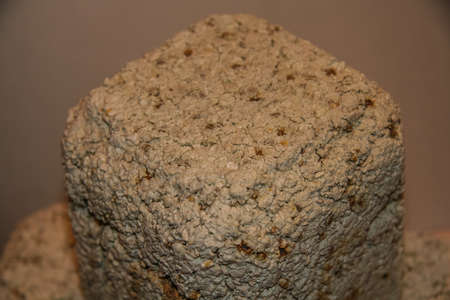 Foto de Fused sample of the molding mass sintered at a temperature of 1400 degrees Celsius. Zaporozhye region, Ukraine. Breast 2009 - Imagen libre de derechos