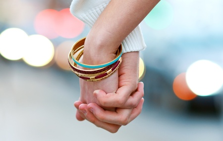 Photo for woman and man hand holding together - Royalty Free Image