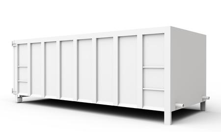 Photo pour 3d empty waste container on white background - image libre de droit