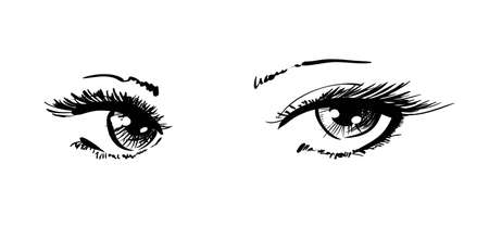 Illustration pour beautiful female eyes - image libre de droit