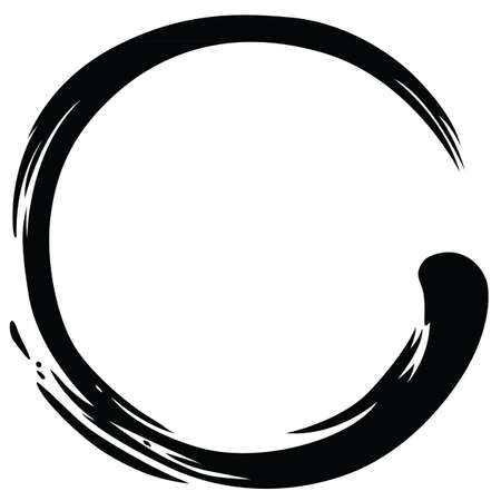 Ilustración de Zen Circle Paint Brush Stroke Vector Illustration - Imagen libre de derechos