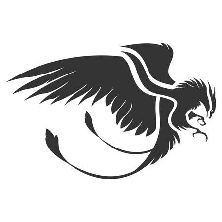 Illustration pour Flat phoenix bird vector - image libre de droit
