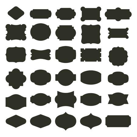 Illustration pour Basic labels set - image libre de droit