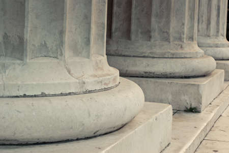Photo for The base of white marble columns. - Royalty Free Image