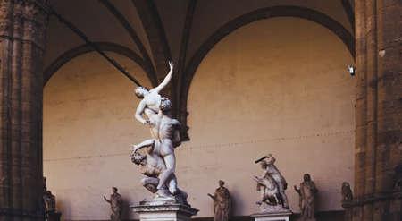 Photo for Statue at the Loggia dei Lanzi in Piazza della Signoria in Florence Tuscany. - Royalty Free Image