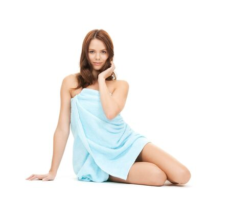 bright picture of beautiful woman in towel