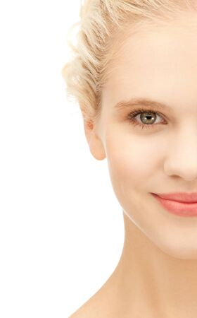 Photo for bright closeup portrait picture of beautiful woman - Royalty Free Image