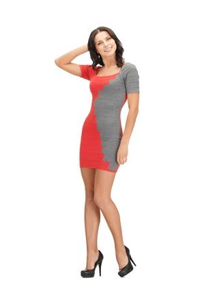 Photo pour picture of lovely woman in elegant dress - image libre de droit