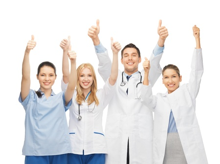 Foto de professional young team or group of doctors showing thumbs up - Imagen libre de derechos