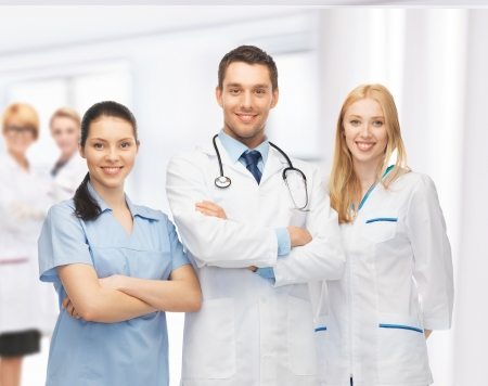 Photo for picture of young team or group of doctors - Royalty Free Image