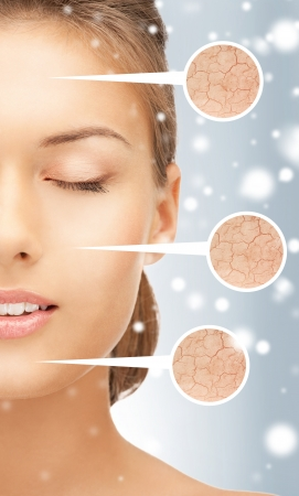 Photo pour health and beauty concept - face of beautiful woman - image libre de droit