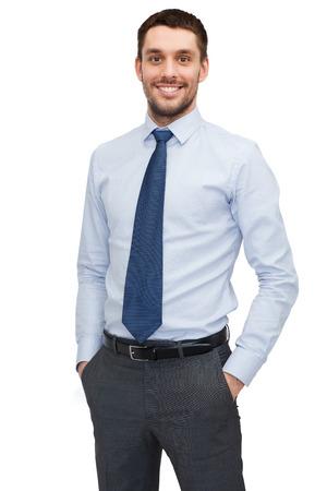 Foto de business and office concept - handsome buisnessman - Imagen libre de derechos