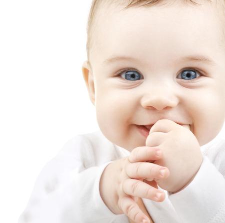 Foto de child, people and happiness concept - adorable baby - Imagen libre de derechos