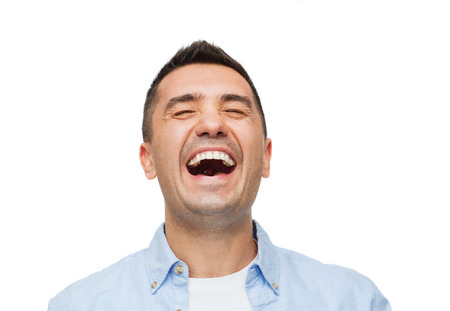 Photo for happiness, emotions and people concept - laughing man - Royalty Free Image