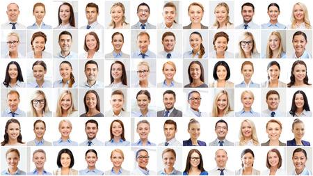 Foto de success concept - collage with many business people portraits - Imagen libre de derechos