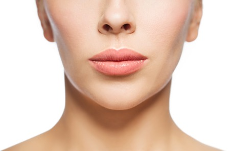 Foto de closeup of woman face and lips - Imagen libre de derechos