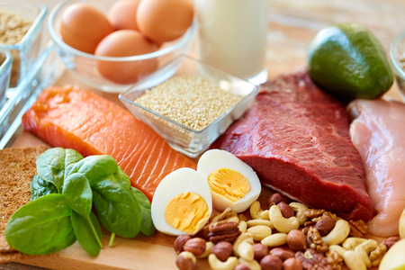 Photo for natural protein food on table - Royalty Free Image