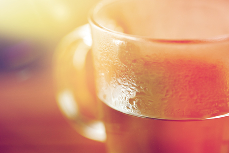 Photo for drink concept - close up of glass with hot water - Royalty Free Image