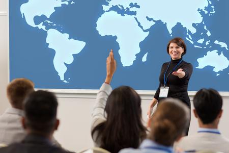 Foto de group of people at business conference or lecture - Imagen libre de derechos