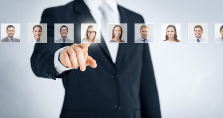 Photo for human resources, career and recruitment concept - Royalty Free Image