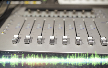 Photo for music mixing console at sound recording studio - Royalty Free Image