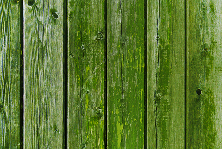 Photo pour old wooden boards painted in green - image libre de droit