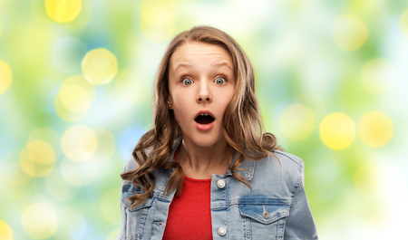 Photo for surprised or shocked teenage girl - Royalty Free Image