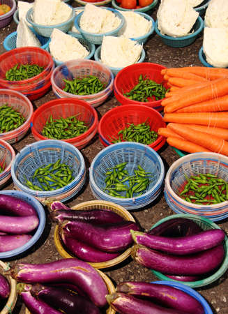 A lot of fresh and organic vegetables for sell at market
