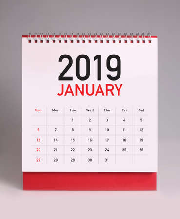 Photo for Simple desk calendar for January 2019 - Royalty Free Image