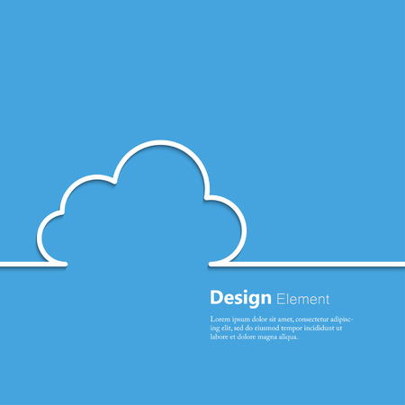 Photo pour Abstract concept of cloud computing. - image libre de droit