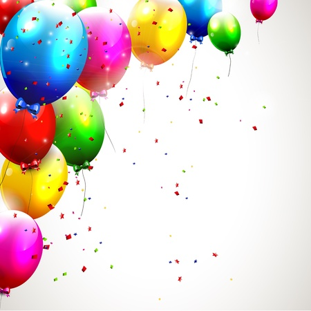 Illustration pour Colorful birthday background - image libre de droit