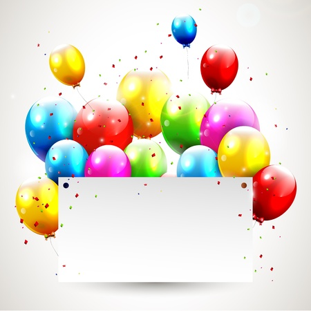 Illustration pour Modern birthday background with place for text - image libre de droit