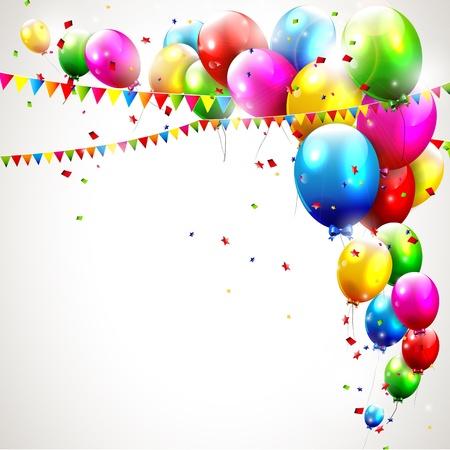 Illustration pour Modern colorful birthday background  - image libre de droit