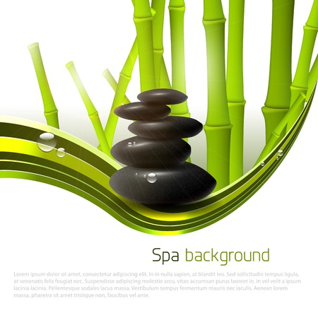Spa background with stones, bamboo and copyspace