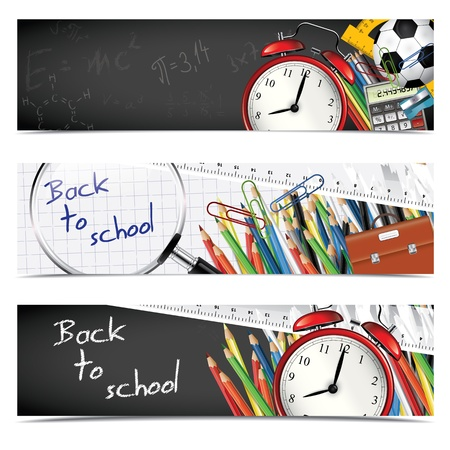 Photo for Back to school - set of vertical banners - Royalty Free Image