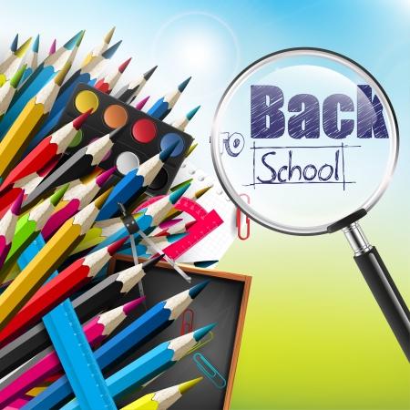 Photo pour Back to school - vector background  - image libre de droit