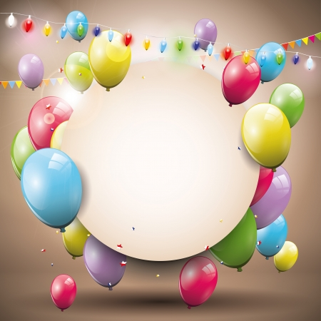 Illustration pour Sweet birthday background with place for text  - image libre de droit