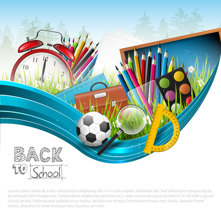 Photo pour Back to school - vector background with copyspace   - image libre de droit