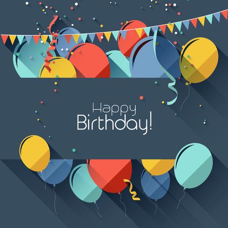 Illustration pour Modern birthday background in flat design style  - image libre de droit